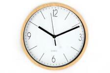 Round Vintage Retro Clock Natural Wood effect Kitchen Wall Clock