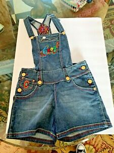 VINTAGE FUNKY FABULOUS! Coogi Women's Overalls Blue Denim Shorts SEXY COLORFUL