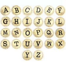 26pcs Snap Buttons Gold Mixed Alphabet A-Z Metal Rhinestone Ginger Snaps Jewelry