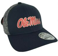 Ole Miss Rebels Zephyr stretch fit M/L hat cap nwt new University Mississippi