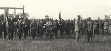 WW1 FOTO DAL FRONTE MORTEGLIANO DUCA D'AOSTA A COLLOQUIO C/ SOLDATO BRIGATA BARI