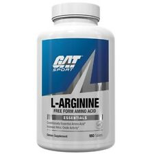 GAT L-ARGININE Free Form Amino Acid  Nitric Oxide Booster, 180 tabs BUILD MUSCLE