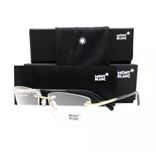 New Mont Blanc Eyeglasses MB 579 028 Gold 57•17•145 With Case