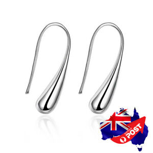 Wholesale 925 Sterling Silver Filled Solid Teardrop Drop Earrings Stunning Gift