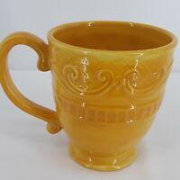 Fitz And Floyd Ricamo 12oz Coffee Tea Mug Cup Yellow Italy Dishwasher Micro Safe