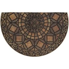 Patio Entryway Door Mat Outdoor Gothic Iron Brown Recycled Rubber 23 x 35 in.