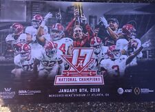 2017 National Championship Celebration Alabama Football Poster Saban, Jalen, Tua