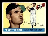 1955 Topps #1 Dusty Rhodes EX X1264381
