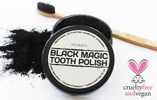 CHARCOAL POWDER TOOTH POLISH 25ML + CHARCOAL FIBRE TOOTHBRUSH *HANDCRAFTED IN UK