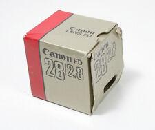 CANON BOX FOR 28MM F2.8 CANON FD LENS/149051