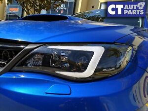 LED DRL Projector Head Lights Dynamic Indicator for Subaru Impreza WRX 08-13