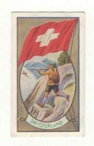 Allen's Confectionery - Sports and Flags of Nations Switzerland  Chamois shootin