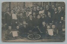 German Youth Group RPPC Political? Bike Club? Antique AK Photo Foto 1921