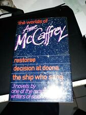 """**SIGNED** NO PERSONALIZATION! RARE """"The Worlds of Anne McCaffrey"""" by McCaffrey"""