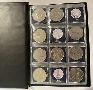 RARE 50p Coin Collection Album WITH GENUINE COINS