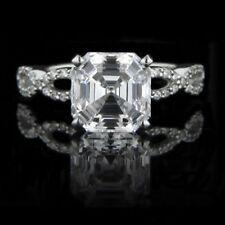 Anillos de joyería con diamantes Diamante asscher SI1