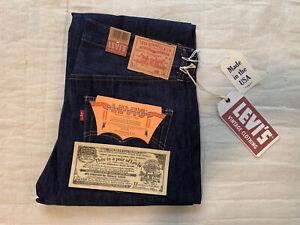 LVC LEVI'S VINTAGE CLOTHING RAW RIDGID SELVEDGE 1966 501 XX BIG E JEANS 32X32