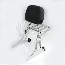 Detachable Passenger Backrest Sissy bar Rack For Harley Dyna 06-UP