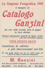 Z2882 Apparecchi fotografici GANZINI - Milano - Pubblicità d'epoca - 1909 old ad