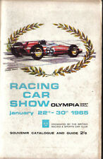 Racing Car Show 6th Souvenir Catalogue & Guide Olympia Jan 22nd -30th 1965