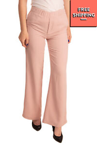RRP €165 EMMA BRENDON Crepe Tailored Trousers Size 40 Flare Leg Made in Italy