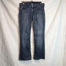7 For All Mankind  Size 27/28 Slim BootCut Stretch Factory Distress Jeans