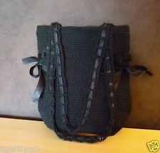 Zwarte gehaakte handtas schoudertas