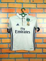 Real Madrid jersey 2016 2017 Youth 9-10 Shirt Adidas Football Soccer AI5189