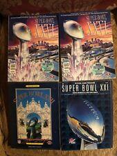 Super Bowl XXI, XXII, & Two XXVI Programs Redskins Giants Bills Broncos