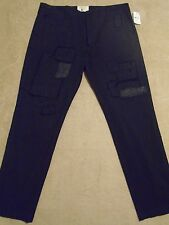 PRPS GOODS CO. Black Tapered Patched Repaired Khaki Jeans Pants 36 Orig.$400+