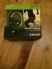 GOJI SPORT GSHOKBT18 Wireless Bluetooth Headphones - Black & Green Sweat Proof