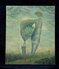 Michel Guignard Tableau surréaliste 1979 artiste Comtois Menouille Jura