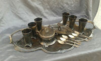Antique Old German Made WMF Art Deco Silver-Plate Serving Tray Set.
