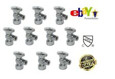 Plumbing Lot Pack 10 pcs 1/4 Turn Angle Stop Valve 3/8