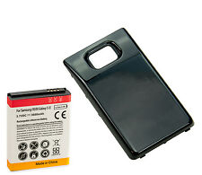 Long Life 3600mAh Extended Battery + Back Cover for Samsung Galaxy S2 i9100 Blk