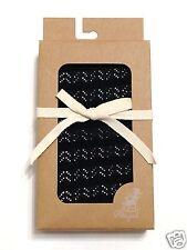 ABIGAIL Women Black/Gray Knitted Herringbone Stripe Tights Fall Winter Pantyhose