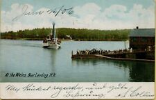 1906 At the Weirs Boat Landing New Hampshire NH Postcard A14