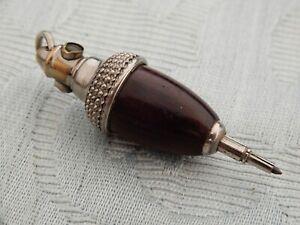 "Antique Novelty ""Acorn"" Propelling Pencil with Souvenir Llandrindod Wells image"