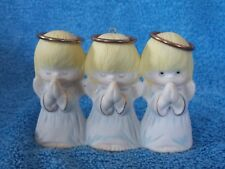 Hallmark Porcelain Praying 3 Girl Christmas Ornament