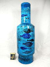 "Beautiful XXL Aldo Londi design Bitossi  "" Pesce "" pottery vase Italy 1577 42 cm"