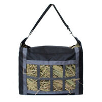 Large Hay Bag Horse Travel Slow Feeding Straw Tote Carrier Storage Pouch Hanging