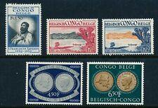 Belgian Congo Stamp set, #285 - 289, Mlh