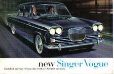 SINGER VOGUE SERIE II 1600 BERLINA 1962-63 originale UK SALES BROCHURE No. 900 / H