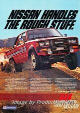 1984 Nissan King Cab 4x4 Truck Original Advertisement Print Art Car Ad J677