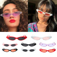 Men Women Retro Vintage Small Frame Oval Sunglasses Eyewear Fashion Shades UV400