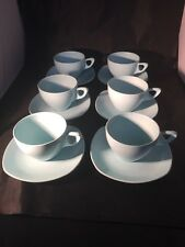 Vintage Retro Midwinter Modern melamine light blue Cups And Saucers picnic