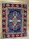 Vintage Antique Needlepoint tapestry throw rug