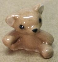 Vintage Porcelain Miniature Bear Cub Figurine, VGC+, L👀K