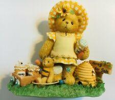 Very Rare Cherished Teddies 661929 Lydia Jars of Honey For Sale Flower Wagon 9