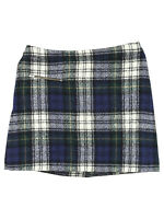 Bonpoint Blue Plaid Wool A-Line Skirt